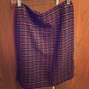 Ann Taylor loft checkered skirt